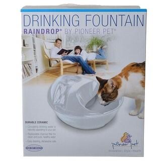 Pioneer Raindrop Ceramic Drinking Fountain - White 60 oz