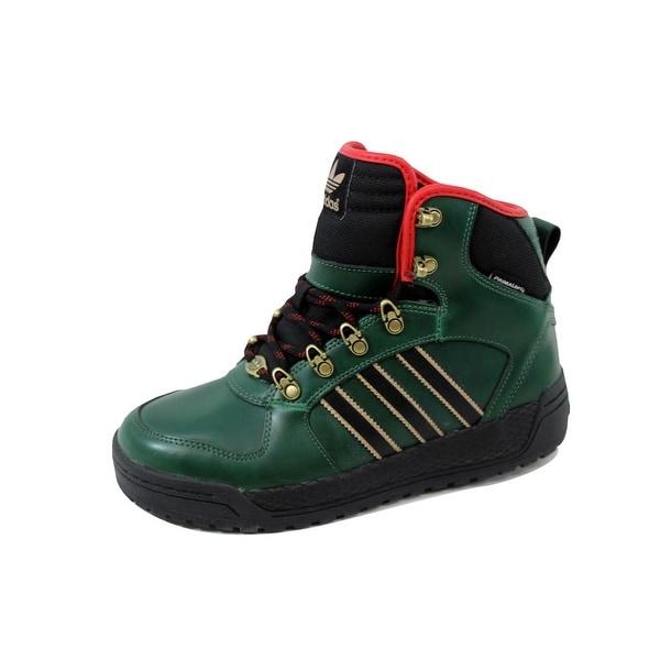 Adidas Men's Winter Ball Dark Green/Black-Light Scarlet Q32957 Size 6