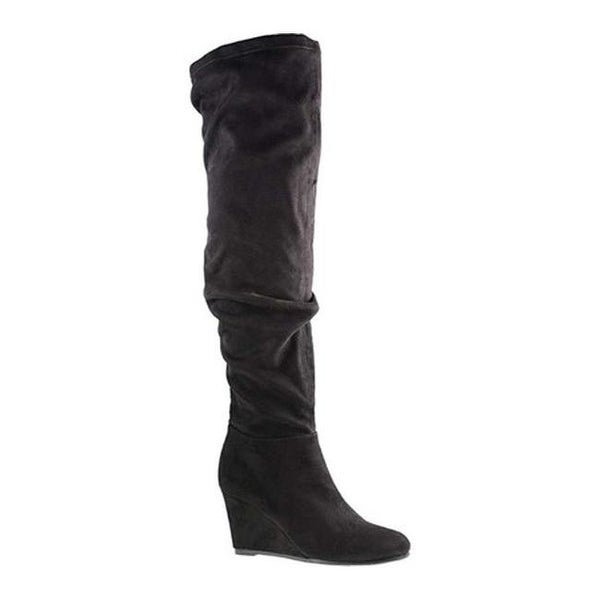 96593142fb2 Shop Chinese Laundry Women s Uma Over the Knee Boot Black Suedette ...
