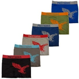 Men's 6 Pack Seamless Eagle Print Boxer Briefs
