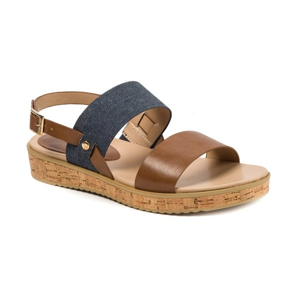 Andrew Geller Henise Women's Sandals & Flip Flops Denim/Mid Brown