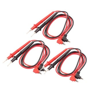 3 Pcs Universal Multimeter Test Lead Probe Wire Pen Cable Black and Red