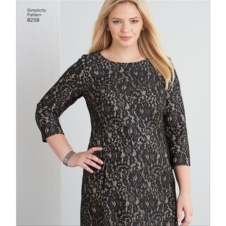 Simplicity Misses / Plus Size Dress 8258-10-12-14-16-18 - 10-12-14-16-18