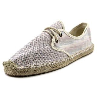 Soludos Lace Up Espadrille Round Toe Canvas Espadrille