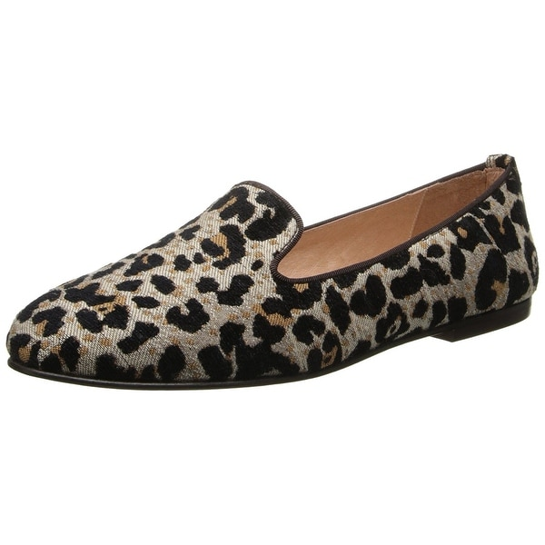 French Sole Womens Motif Leather Closed Toe Loafers