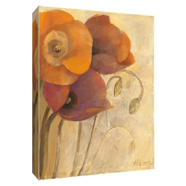 """PTM Images 9-154632 PTM Canvas Collection 10"""" x 8"""" - """"Heirloom Poppies II"""" Giclee Poppies Art Print on Canvas"""