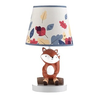 Lambs & Ivy Orange Little Campers Lamp with Shade & Bulb