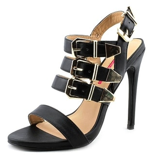C Label Olive-17 Open-Toe Synthetic Heels