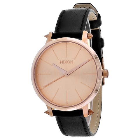 Nixon Women's Kensington Leather Rose Gold Watch - A108-3147 - One Size