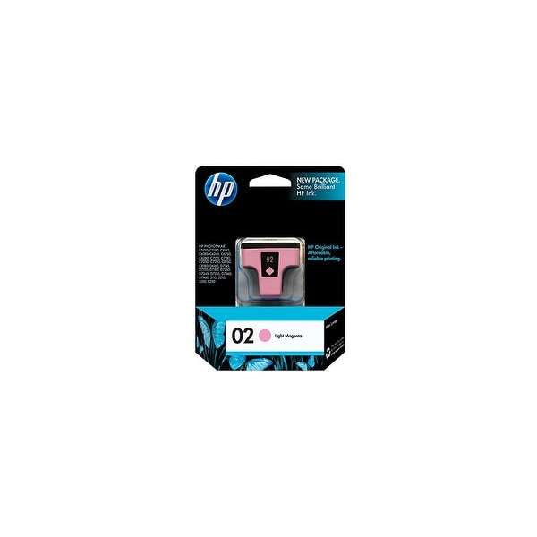 HP 02 Light Magenta Original Ink Cartridge (C8775WN) (Single Pack)