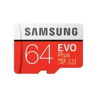 Samsung MicroSDHC EVO Plus Memory Card with Adapter - 64GB microSDXC Card with SD Adapter