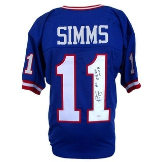 Phil Simms Signed Custom Football Jersey Insc. S.B. XXI MVP JSA ITP