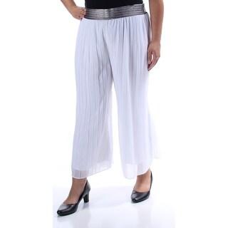 ALFANI $70 Womens New 1203 Turquoise Pleated Cropped Wear To Work Pants XL B+B