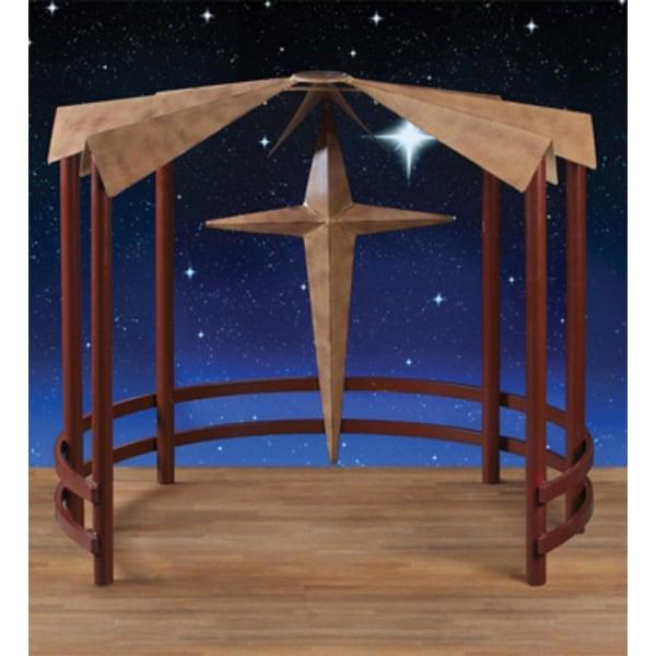 "40"" Metal Christmas Display Nativity Creche with Star - brown"