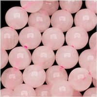 Rose Quartz Gemstone Round Pink Beads 6mm 15.5 Inch Strand