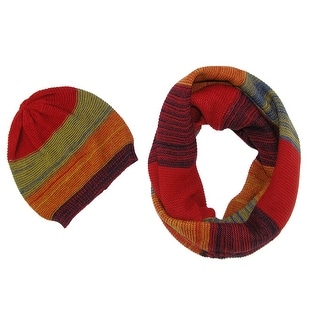 CTM® Women's 2 Piece Winter Set Hat and Loop Scarf - One size