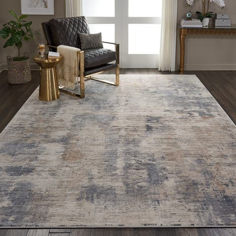 Rustic Textures Modern Transitional Abstract Area Rug