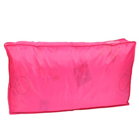 Foldable Dustproof Zippered Quilt Blanket Pillow Storage Bag Container Hot Pink