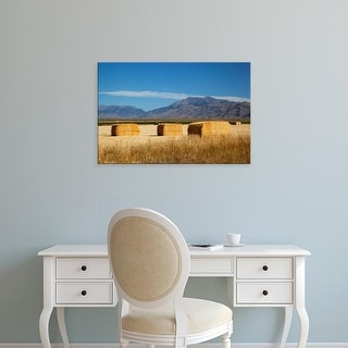 Easy Art Prints Jamie & Judy Wild's 'Hay Bales' Premium Canvas Art