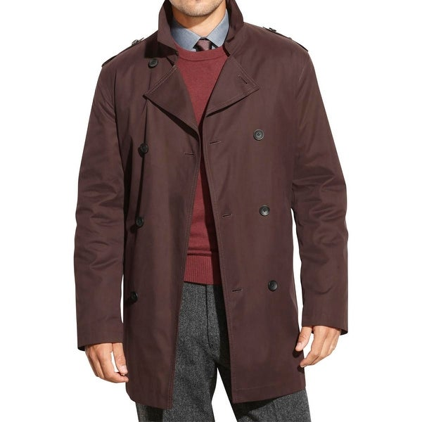 6a22d27f3f1 Shop Kenneth Cole New York Mens Rance Pea Coat Double Breasted Rain - 46r -  Free Shipping Today - Overstock - 18391741