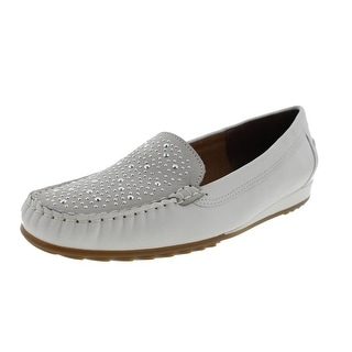 ARA Womens Nery Leather Studded Loafers - 6 medium (b,m)