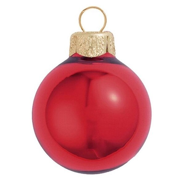 """40ct Shiny Rosewood Pink Glass Ball Christmas Ornaments 1.5"""" (40mm)"""