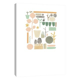 "PTM Images 9-108813  PTM Canvas Collection 10"" x 8"" - ""Plant Collage 4"" Giclee Leaves Art Print on Canvas"