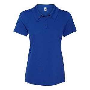 All Sport Women's Performance 3-Button Mesh Polo - Sport Royal - XS