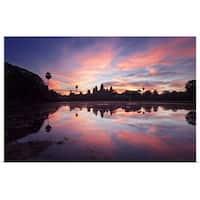 Poster Print entitled Surise at Angkor Wat - multi-color