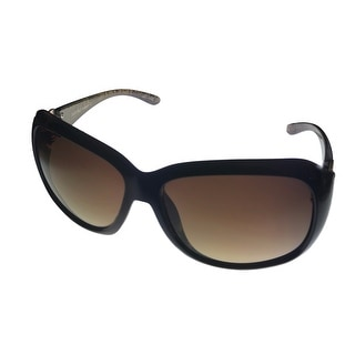 Ellen Tracy Sunglass Womans Black Rectangle Fashion Plastic 514 1 - Medium