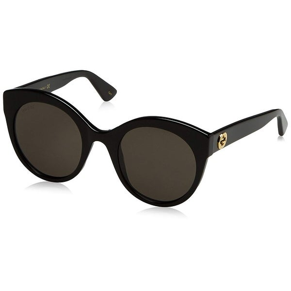 78c14558cd2 Gucci Women  x27 s Gg0028S 001 Black Gold Fashion Sunglasses 52Mm - Black