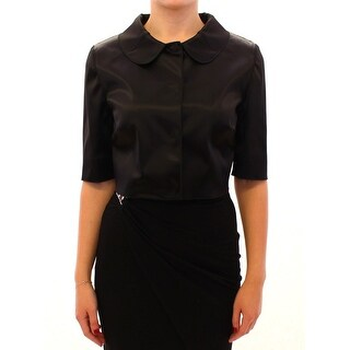Dolce & Gabbana Black Shiny Stretch Bolero Shrug Jacket