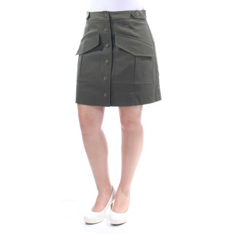 RACHEL ROY Womens Green Pocketed Above The Knee A-Line Skirt Size: 6