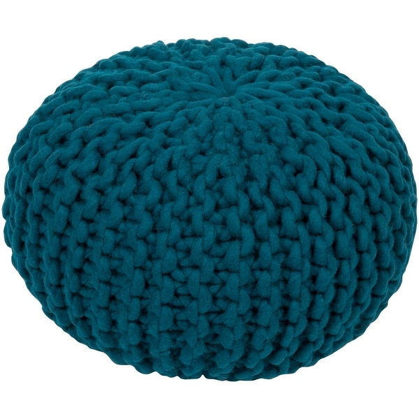 Shop 40 Teal Crochet Pattern Knitted Decorative Indoor Oval Pouf Extraordinary Turquoise Knitted Pouf