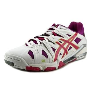Asics Gel-Sensei 5 Women Round Toe Synthetic White Sneakers