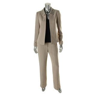 Tahari ASL Womens Beaded 2PC Pant Suit - 2