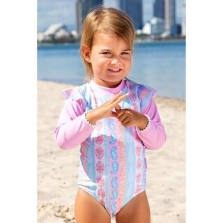 Sun Emporium Arabella Print Long Sleeve Swimsuit Baby Girls - 6-12 Months