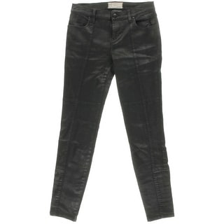Free People Womens Coated Stretch Skinny Jeans