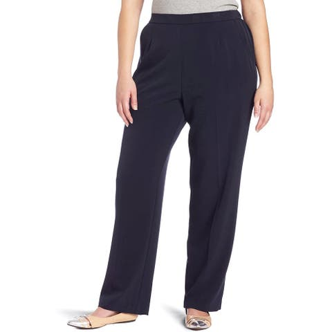 Briggs Womens Pants Blue Size 20W Plus Dress Pull On Comfrt Stretch