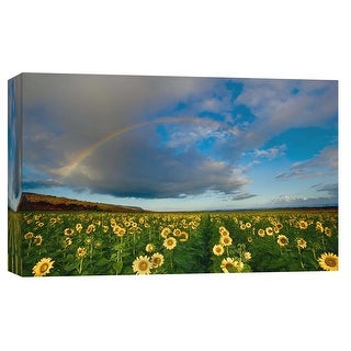 "PTM Images 9-102139  PTM Canvas Collection 8"" x 10"" - ""Sunflower Rainbow"" Giclee Rural Art Print on Canvas"