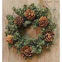 "Pine Wreath w/Cones, 4"""
