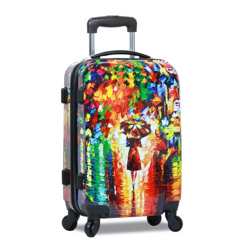 Paris Nights Lightweight Carry-On Upright Spinner Luggage