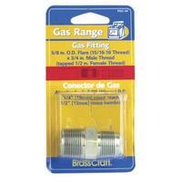 "BrassCraft PSSC-64 Magne Flo Gas Union, 5/8""OD tube x 3/4""MIP"