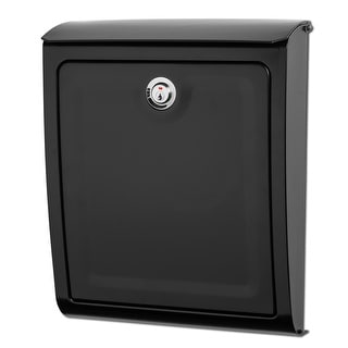 Architectural Mailboxes 2596-10  Sienna Wall Mounted Locking Mailbox - Black