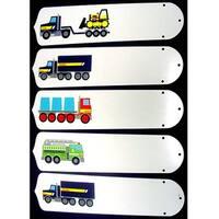 Tonka Trucks Custom Designer 52in Ceiling Fan Blades Set - Multi