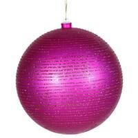 Vickerman M115809 8 in. Cerise Matte-Glitter Ball