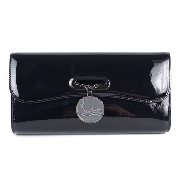 Louboutin Women X27 S Black Patent Leather Rivera Clutch Bag