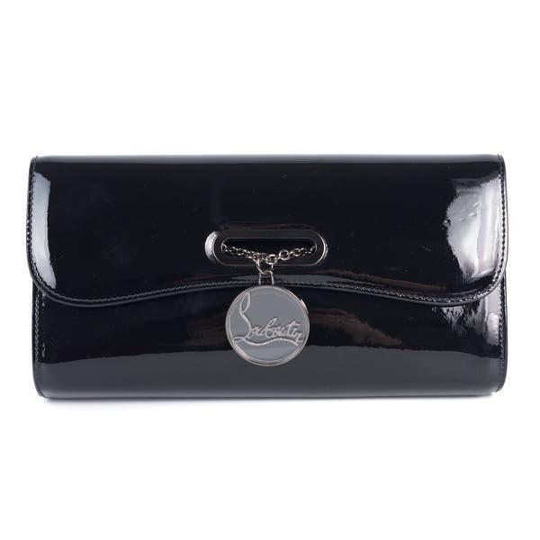 6ec40d195a6a Shop Christian Louboutin Women's Black Patent Leather Rivera Clutch ...