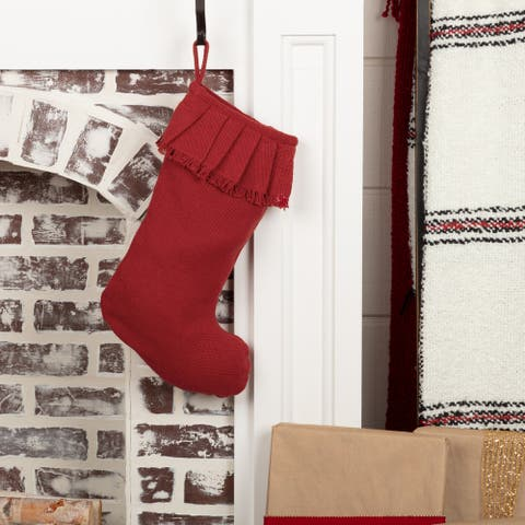 Festive Burlap Ruffled Stocking