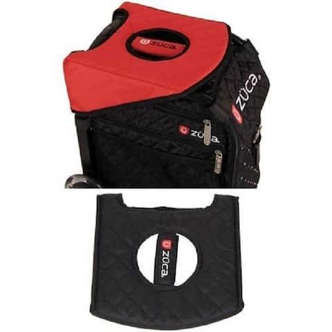 Zuca Padded Reversible Seat Cushion - Black / Red